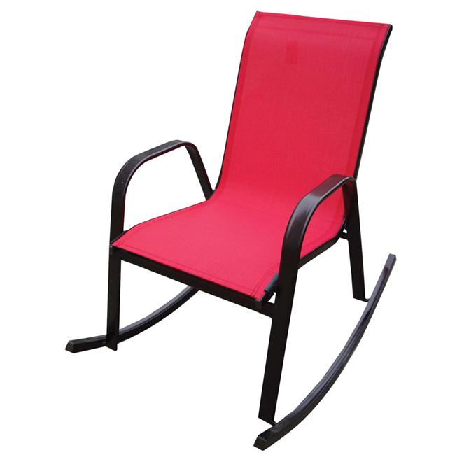 Chaise berçante de patio, rouge