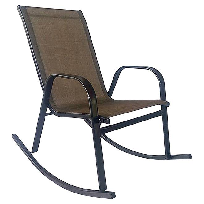 Rocking Patio Chair   Bronze