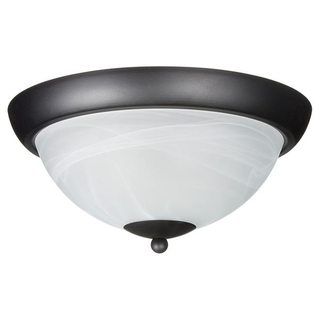 """Lily Flush-Mount Ceiling Light - 12"""" - Black/White"""