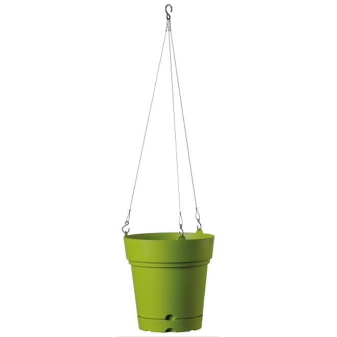 """Hanging Planter Pot - Samba - 8 3/4"""" - Green"""