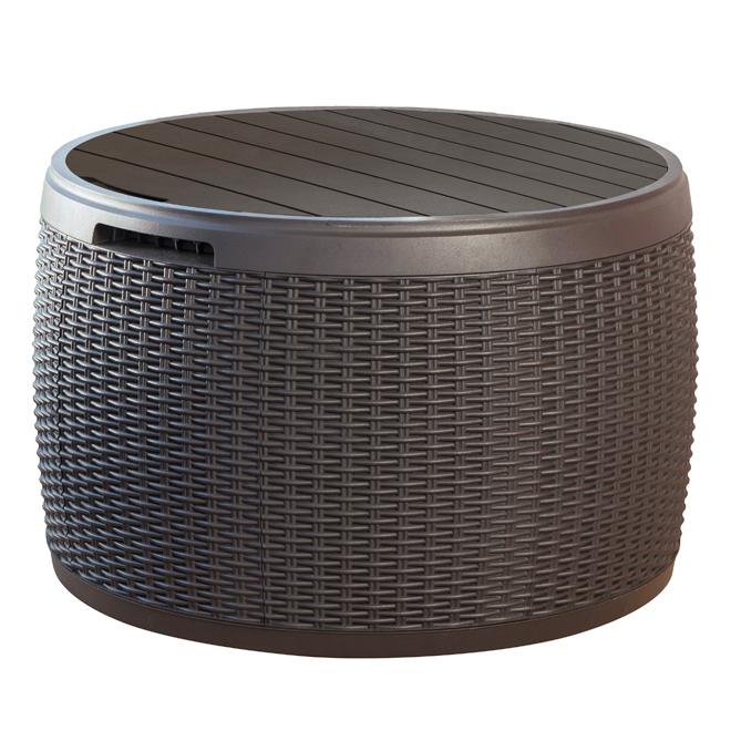 Circular Deck Box - 37 gallon - Brown