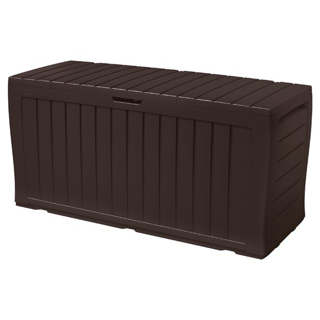 Coffre de rangement Marvel en plastique, brun foncé, 70 gal