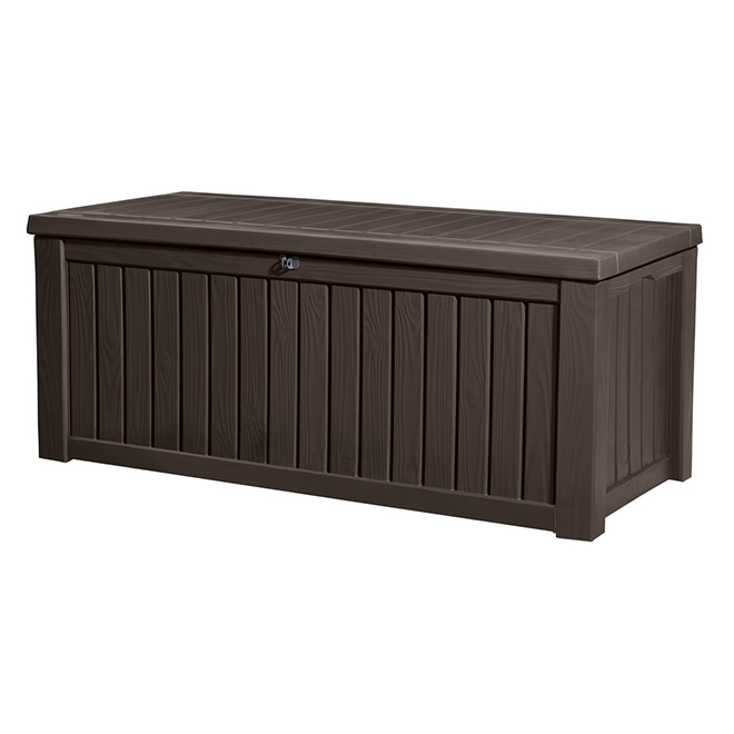 Ordinaire Rockwood Resin Storage Box   150 Gal.   Brown