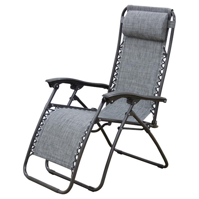 """Chaise longue de patio, Relax, 44"""", grise"""