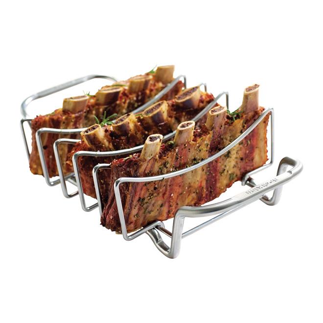 Support à côtes levées Broil King pour barbecue, acier inoxydable