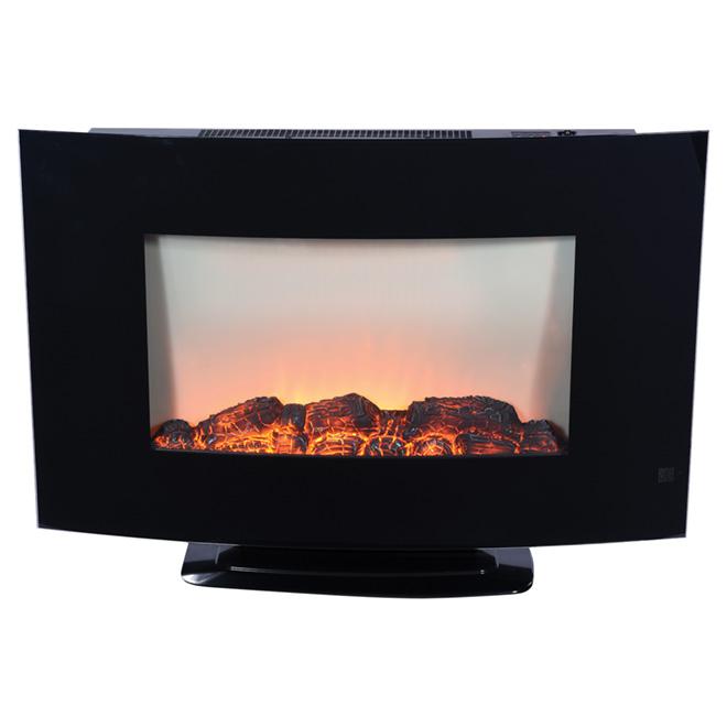 Foyer électrique en métal, 750 -1 500 W, noir