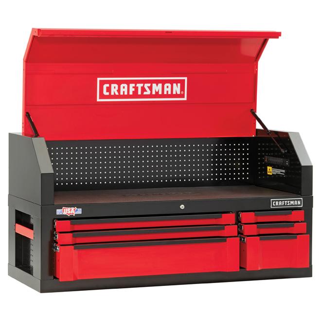 Coffre/armoire pour outils, 6 tiroirs, 54'' - rouge/noir