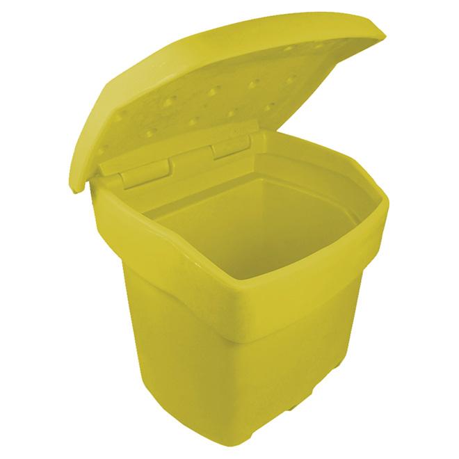 Bac de rangement extérieur, jaune, 140 kg