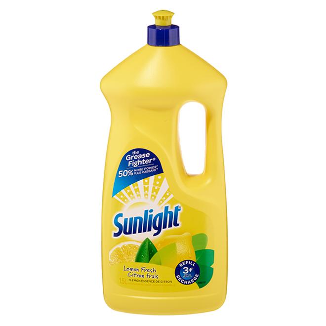 Savon à vaisselle liquide, jaune, 1,5 l