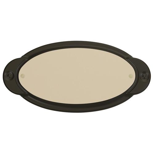 "Address Plate - ""Modern"" Oval Address Plate"
