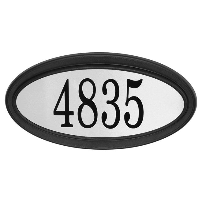 "Address Plate - Stainless Steel - 15 1/2"" x 8"" - Black"