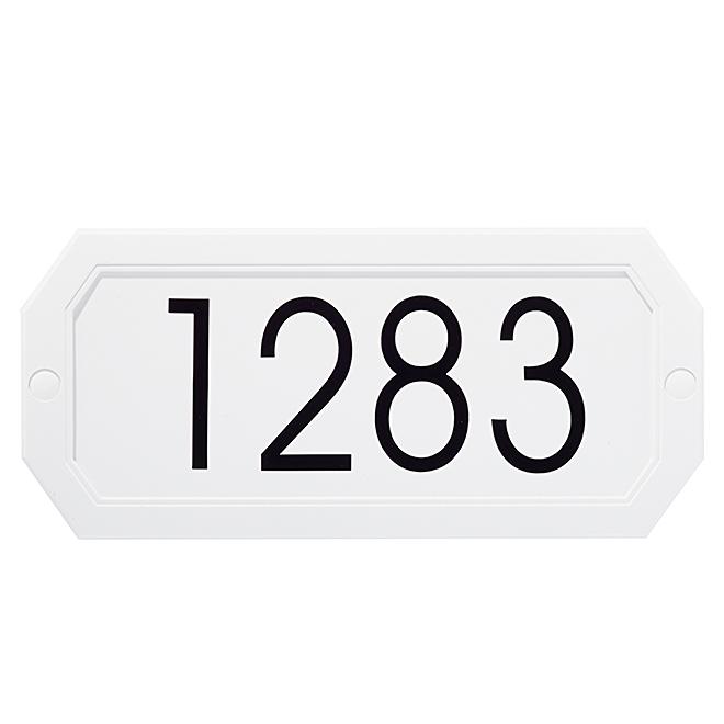 Address Plaque - Octogonal - White
