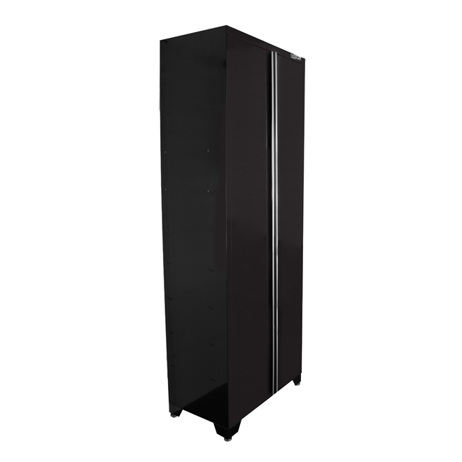 "2-Door Tall Cabinet 18"" x 32"" x 82"" - Gloss Black"