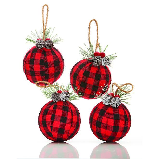Boules de Noël Holiday Living, Promenade en traîneau, Buffalo, 4/pqt