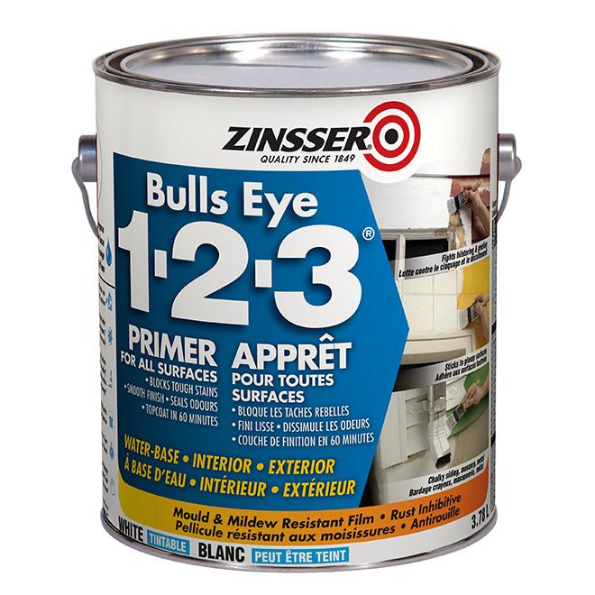 Apprêt d'impression Bulls Eye 1-2-3(MD), 3,7 l, blanc