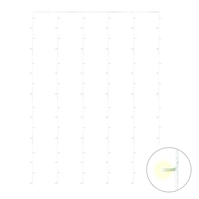 Holiday Living Light Curtain - 96 LED Lights - 1 m x 1.65 m - Warm White