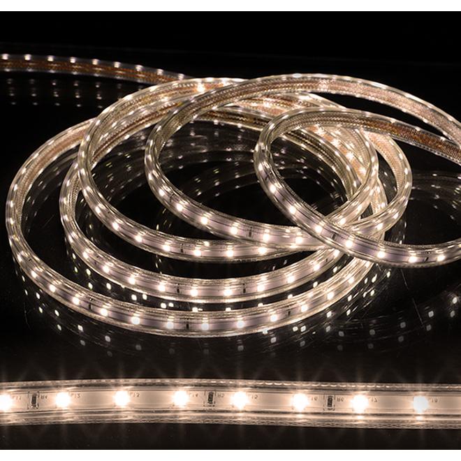 Cordon en PVC de 180 lumières DEL Danson Decor, DEL, blanc froid