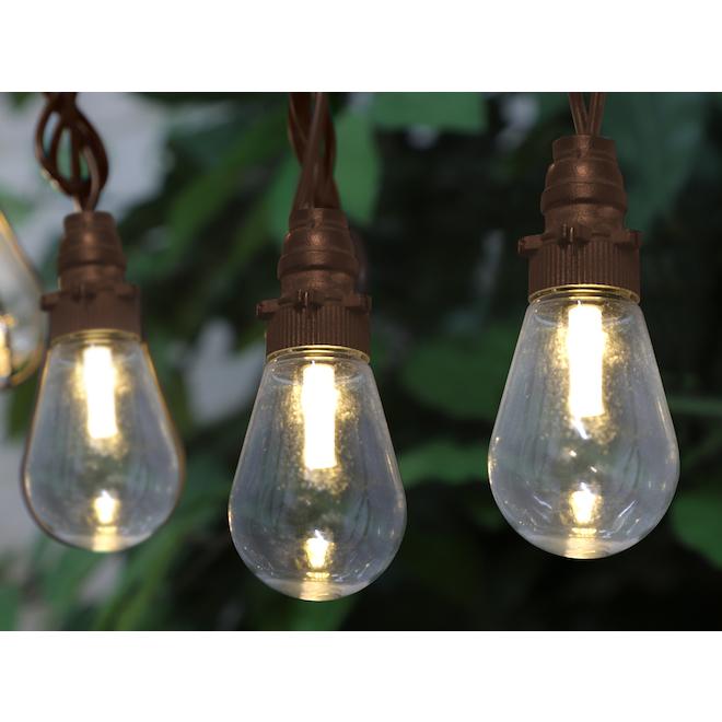 Jeu de 15 lumières DEL Edison Danson Decor, blanc chaud