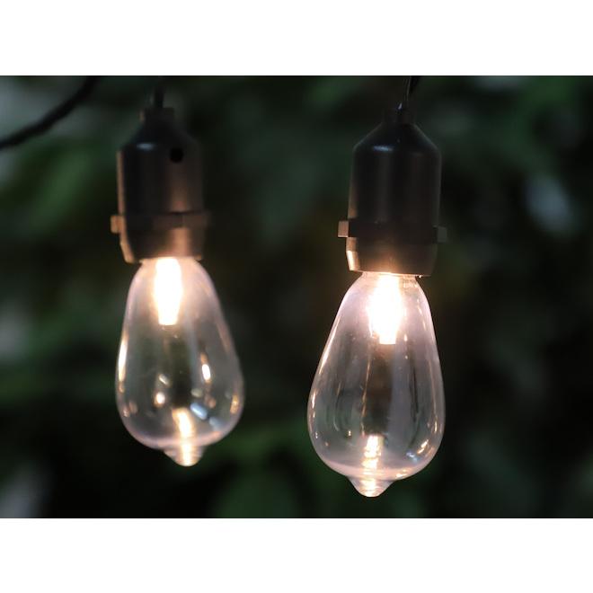 Jeu de 15 lumières DEL Edison sur fil Danson Decor, blanc chaud