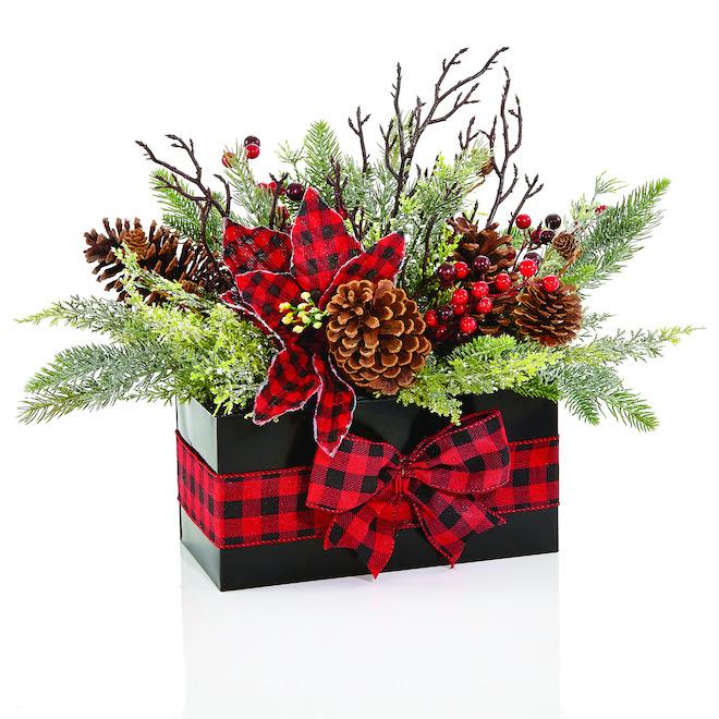 Centre de table de Noël Holiday Living, multicolore, paquet de 1