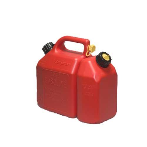 Bidon d'essence et d'huile
