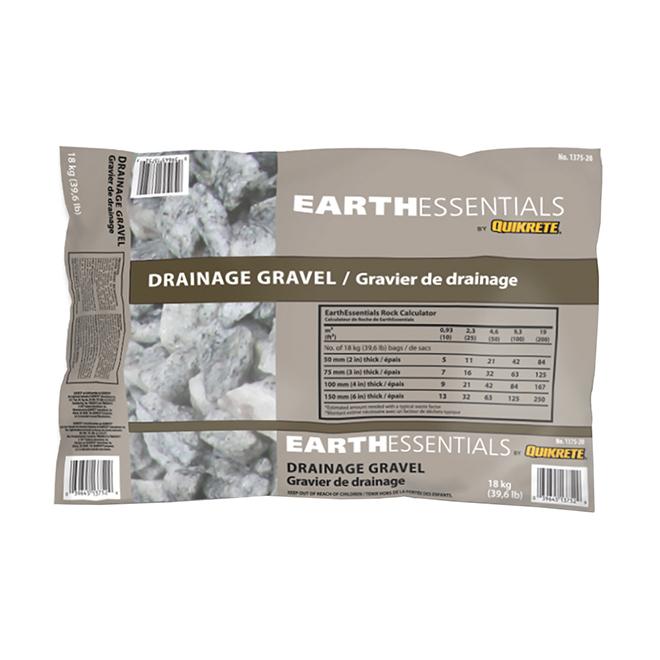 Pierre de drainage, Earthessential, 18 Kg, gris/beige