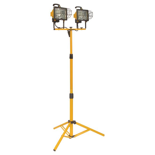 Lampe de travail halogène à trépied, 2 x 500 W, 67 3/4 po