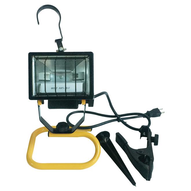 Lampe de travail portative halogène 4 en 1, 250 W, 13 3/4 po