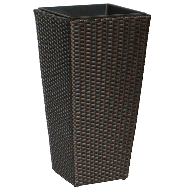 Assorted Planters - Wicker 27-in Brown and Black
