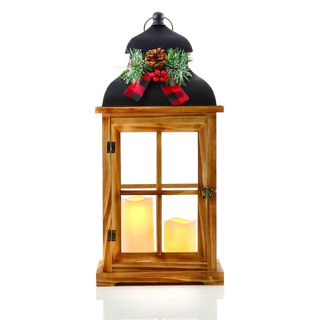 Centre de table Infinity, lanterne de Noël, noir