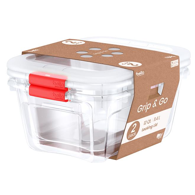 Storage bins - 11.4 L - Coral - Pack of 2