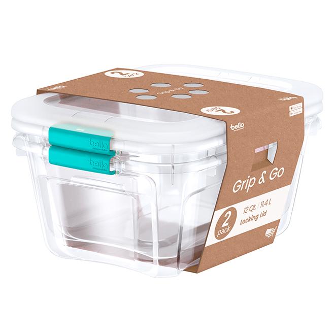 Storage bins - 11.4 L - Teal - Pack of 2