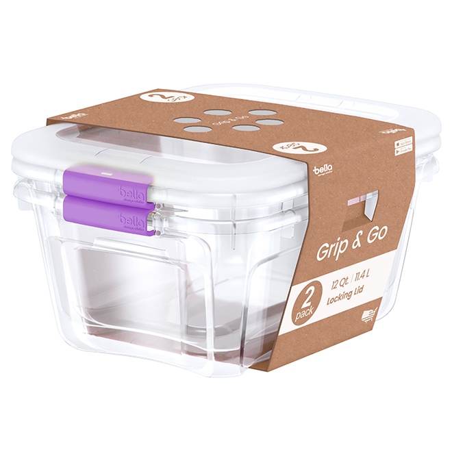 Storage bins - 11.4 L - Purple - Pack of 2