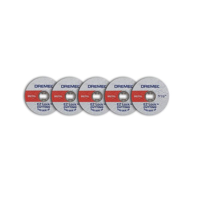 Dremel EZ Lock Cut-Off Wheels - 1 1/2-in - Fibreglass Reinforced - Pack of 5