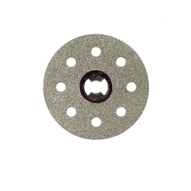 Dremel EZ Lock Cutting Wheel - 1 1/2-in dia x 1/32-in T - 1/8-in Shank - Diamond Grit