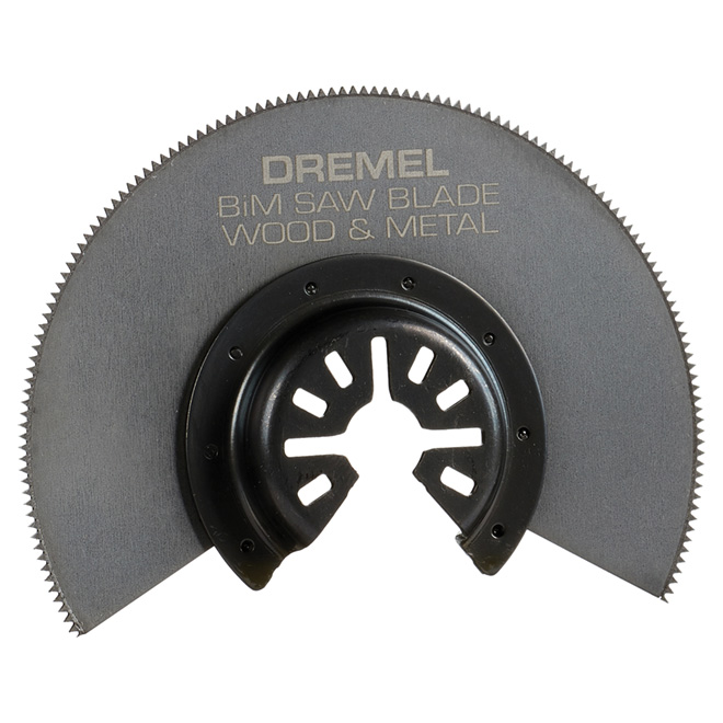 Dremel Multi-Max Flush Cutting Oscillating Blade - 3 7/16-in L x 3 7/16-in W x 1/32-in T - Bi-Metal - Quick Fit