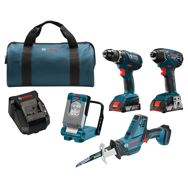 Set of 4 Cordless Tools - 18 V - Blue