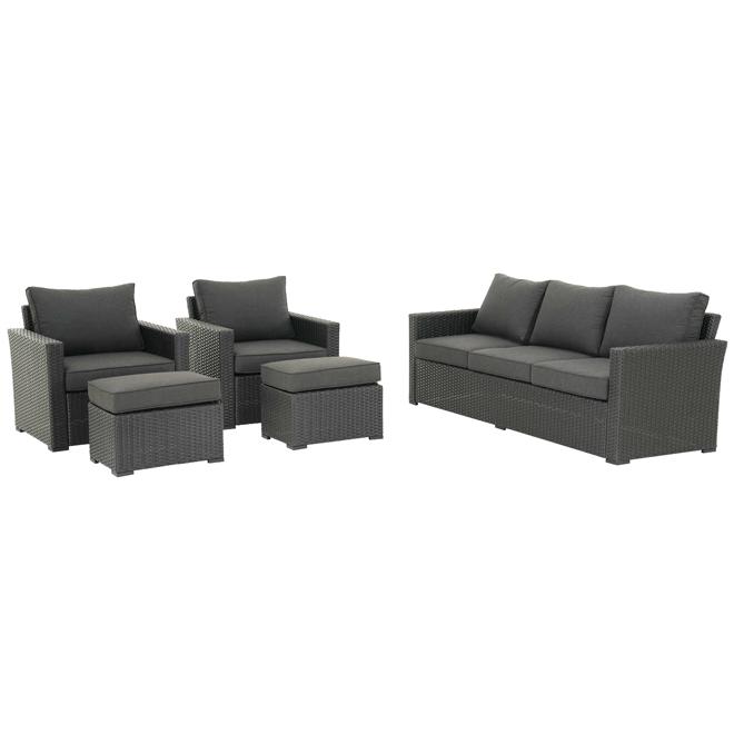 Ensemble de meuble extérieur Kelso allen + roth, 5 pièces, noir
