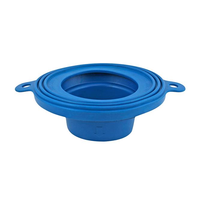 """Joint d'étanchéité pour toilette, 6"""" X 6"""" X 2"""", bleu"""