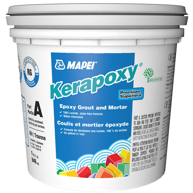 Coulis antitache et mortier «Kerapoxy» 945ml - Blanc