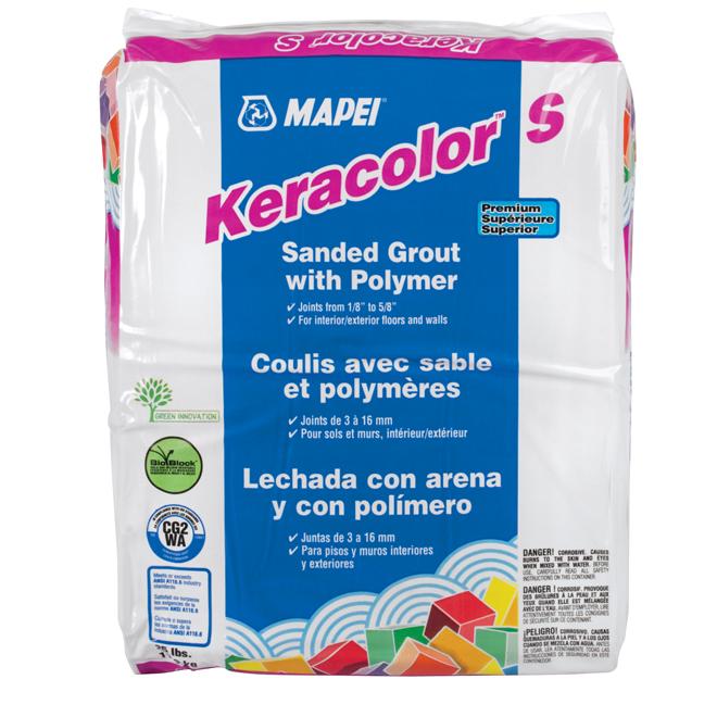 Coulis avec sable «Keracolor S» 11.3kg - Blanc
