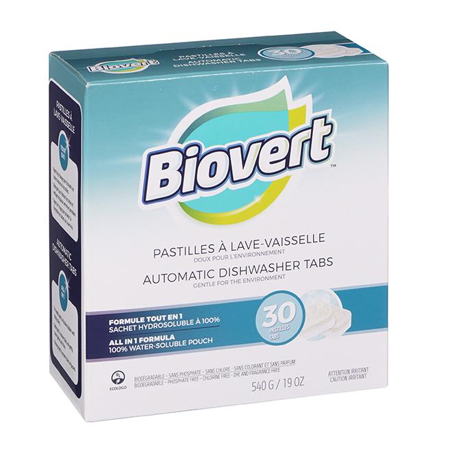 Pastilles à lave-vaisselle biodégradables, 540 g, blanc