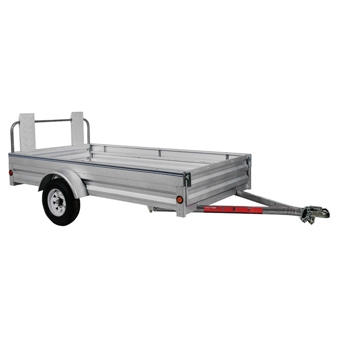 Remorque extensible en acier galvanisé, 5' x 10'