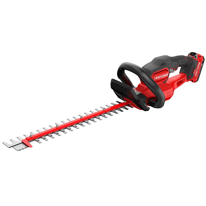 "Cordless Hedge Trimmer - 22"" - 20 V - Red/Black"
