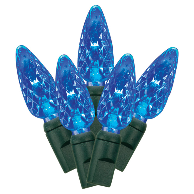 Set of 70 Lights - Interior/Exterior - LED C6 - Blue