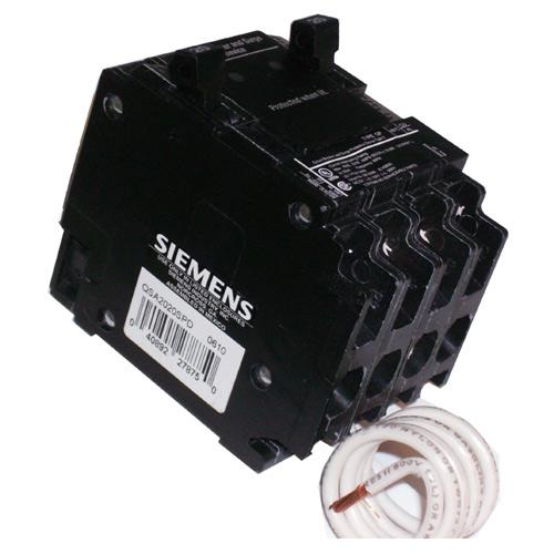 Disjoncteur unipolaire 2x 20A / 120V, noir