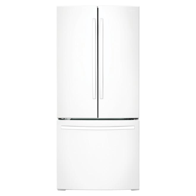 """Réfrigérateur à portes françaises 30"""", 21,6 pi³ blanc"""