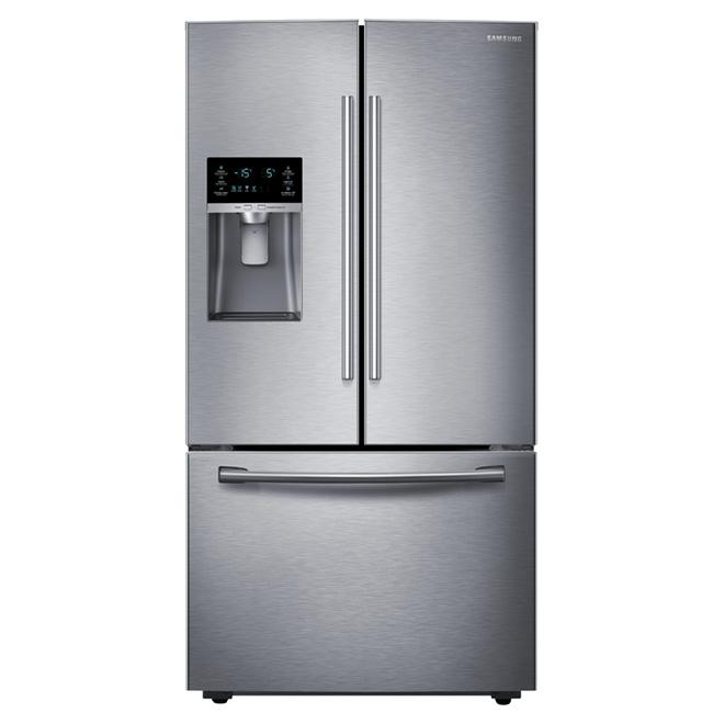 """Réfrigérateur à portes françaises 36"""", 22,5 pi³ inox"""