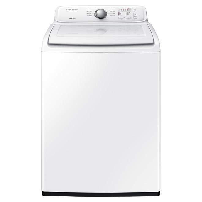 Laveuse à chargement vertical, 4,9 pi³, blanc