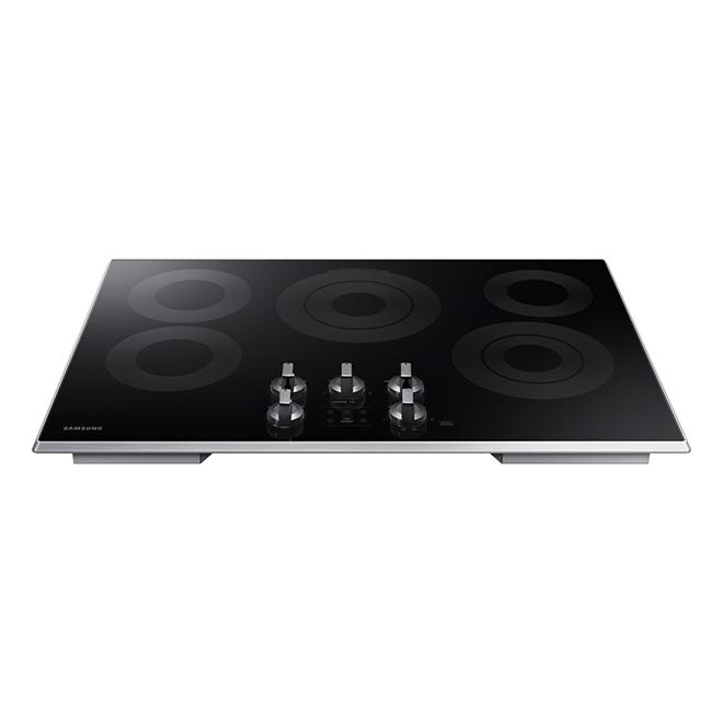 """Surface de cuisson encastrée électrique 30"""", noir"""